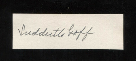 Sudduth Goff (d. 1965) Artist Signed Card Autographed AUTO Signature Painter