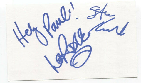 Clarknova - Steve Kulba and John Lord Signed 3x5 Index Card Autographed Band
