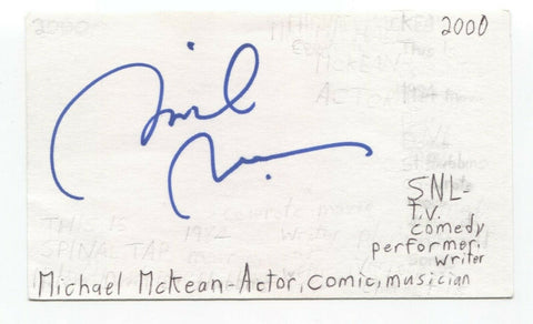 Michael McKean Signed 3x5 Index Card Autographed Signature Actor Comedian SNL
