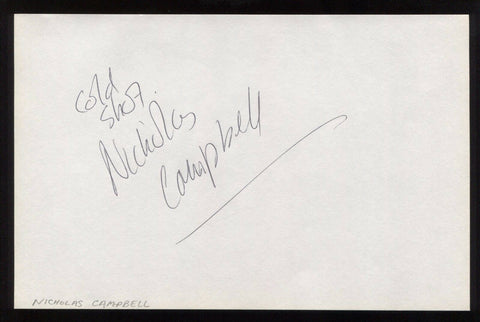 Nicholas Campbell Signed HUGE 8x5 Inch Page Autographed Signature