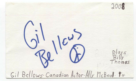 Gil Bellows Signed 3x5 Index Card Autographed Signature Shawshank Redemption