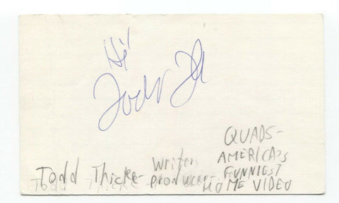 Todd Thicke Signed 3x5 Index Card Autographed Signature Executive Producer