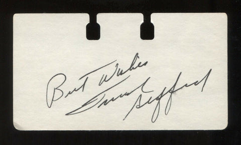 Frank Gifford Signed Card Autographed Football Cut Signature Index Card Paper