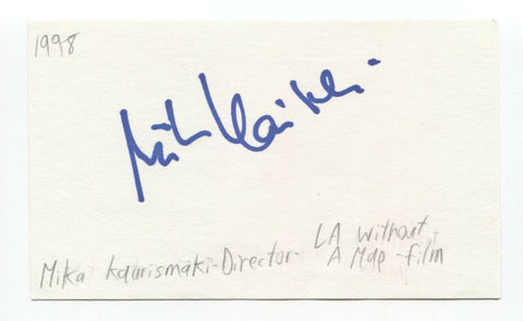 Mika Kaurismaki Signed 3x5 Index Card Autographed Film Director
