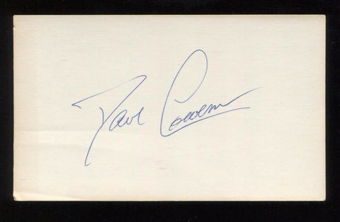 Dan Cowens Signed 3x5 Index Card Autographed Signature Basketball Hall of Fame