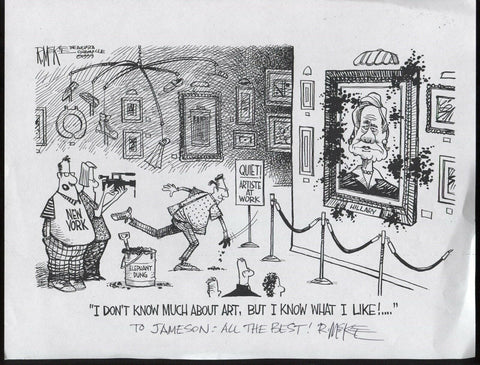 Rick McKee Signed Comic Strip Copy Autographed Signature Cartoonist