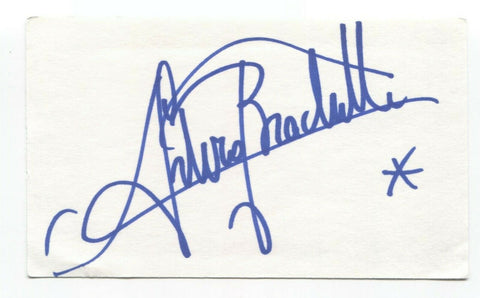 Arturo Brachetti Signed 3x5 Index Card Autographed Signature Quick Change Artist