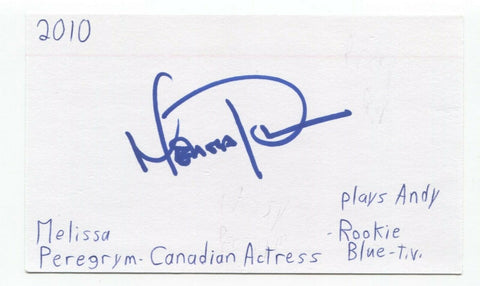 Missy Peregrym Signed 3x5 Index Card Autograph Signature Actress Stick It