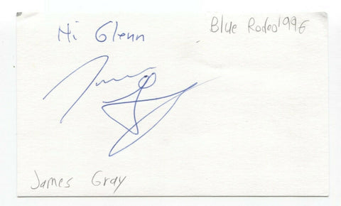 Blue Rodeo - James Gray Signed 3x5 Index Card Autographed Signature Band