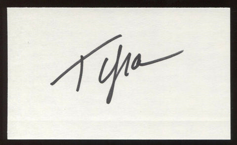 Tyra Banks Signed 3x5 Index Card Vintage Autographed Signature