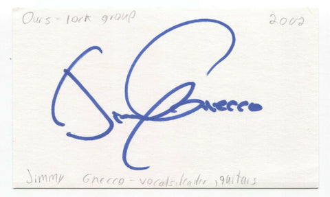 Ours - Jimmy Gnecco Signed 3x5 Index Card Autographed Signature