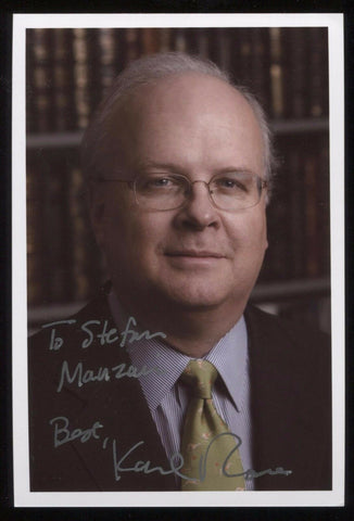 Karl Rove Signed Photo Vintage Autographed Signature Photograph