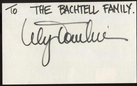 Lily Tomlin Signed Index Card Signature Vintage Autographed AUTO