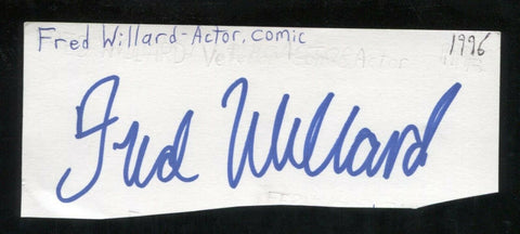 Fred Willard Signed Cut 3x5 Index Card Autographed Signature Actor Modern Family