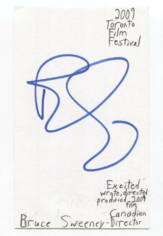 Bruce Sweeney Signed 3x5 Index Card Autograph Signature Film Director