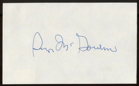 George McGovern Signed Index Card Autographed Signature AUTO