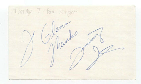Timmy T Signed 3x5 Index Card Autographed Signature Singer Musician
