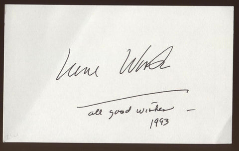 Irene Worth Signed Index Card Autographed Signature Auto