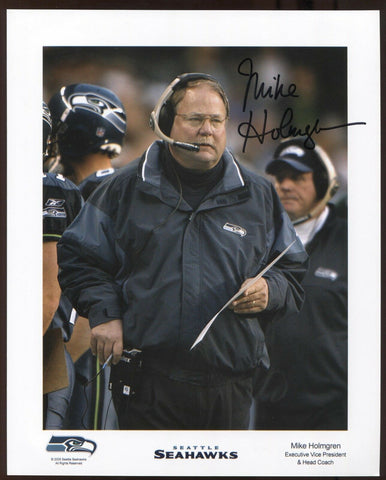 Mike Holmgren Signed 8 x 10 Inch Photo Vintage Autographed Signature Football