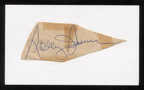 Solly Hemus Signed Cut Autographed Index Card Circa 1962 Baseball Signature