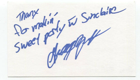 Sinclaire - Grego Wolfe Signed 3x5 Index Card Autographed Signature Band