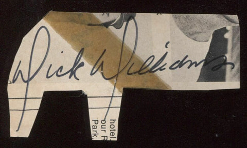 Dick Williams Signed Cut 1951 Autograph Clipped from a Program