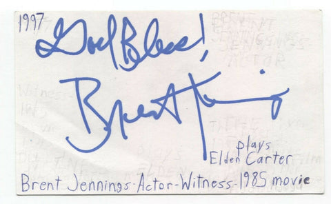 Brent Jennings Signed 3x5 Index Card Autographed Actor Signature Moneyball