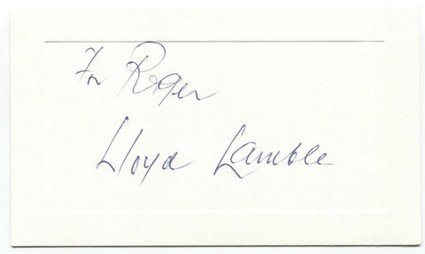 Lloyd Lamble Signed Card Autographed Signature Actor