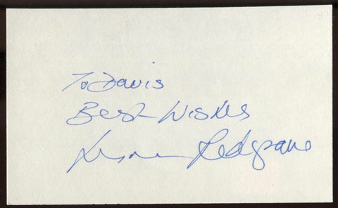 Lynn Redgrave  Signed Index Card Signature Vintage Autographed AUTO