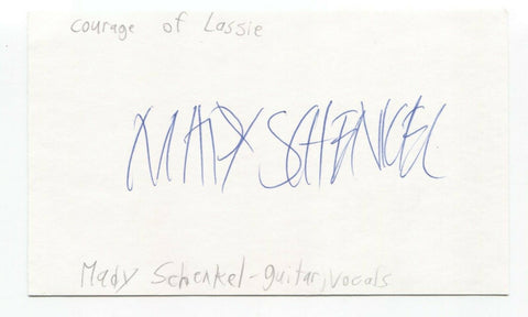 Courage of Lassie - Maddy Schenkel Signed 3x5 Index Card Autographed Signature