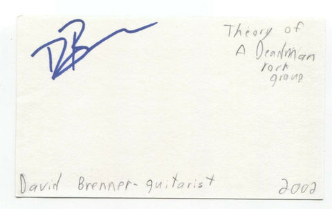 Theory of a Deadman - David Brenner Campbell Signed 3x5 Index Card Autographed