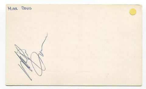 Mike Davis Signed 3x5 Index Card Autographed Signature NBA Basketball