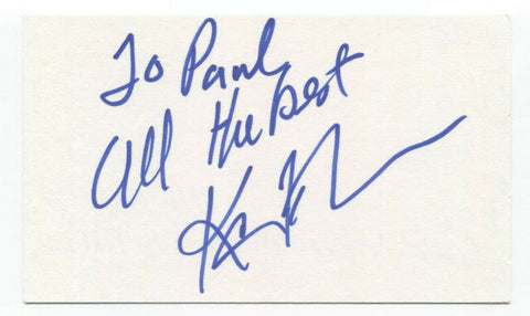 Kevin Frank Signed 3x5 Index Card Autographed Signature Actor TV Host