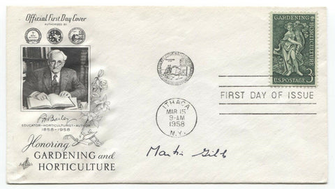 Martin Gibbs Signed FDC First Day Cover Autographed Scientist Signature