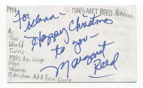Margaret Reed Signed 3x5 Index Card Autographed Signature Actress Star Trek TNG