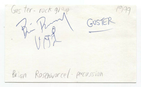 Guster - Brian Rosenworcel Signed 3x5 Index Card Autographed Signature