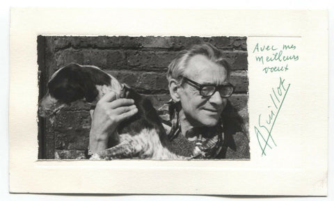 Rene Guillot Signed Card Autographed Signature Children's Book Author