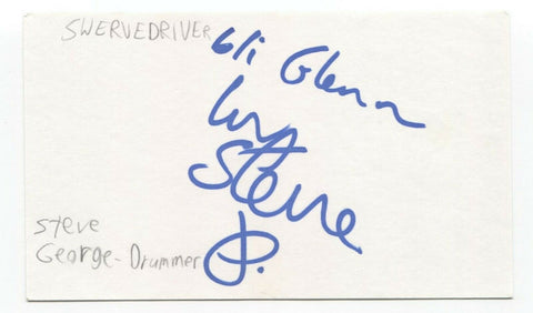 Swervedriver - Steve George Signed 3x5 Index Card Autographed Signature