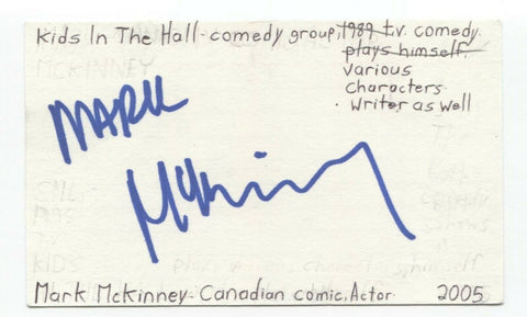 Mark McKinney Signed 3x5 Index Card Autograph Signature Actor Comedian