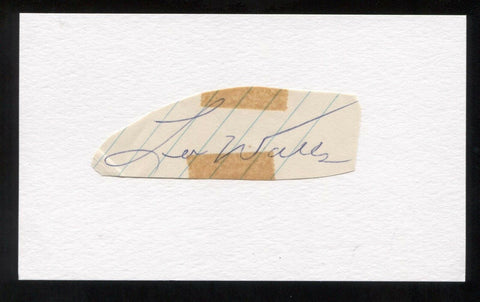 Lee Walls Signed Cut Autographed Index Card Circa 1962 Baseball Signature