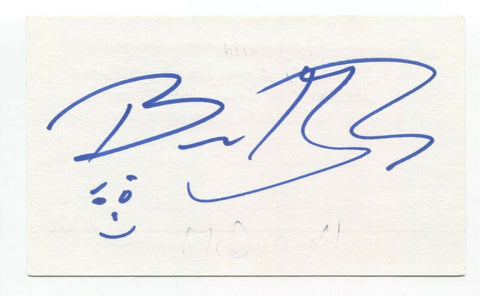 Bruce MacDonald Signed 3x5 Index Card Autograph Actor Director Roadkill
