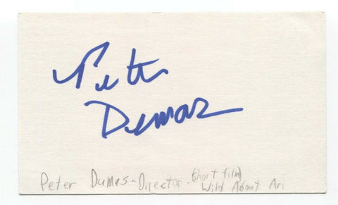 Peter Dumas Signed 3x5 Index Card Autographed Signature Film Director