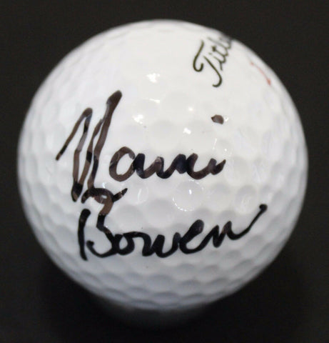 Nanci Bowen Signed Golf Ball Autographed Signature Titleist 1 HVC Tour