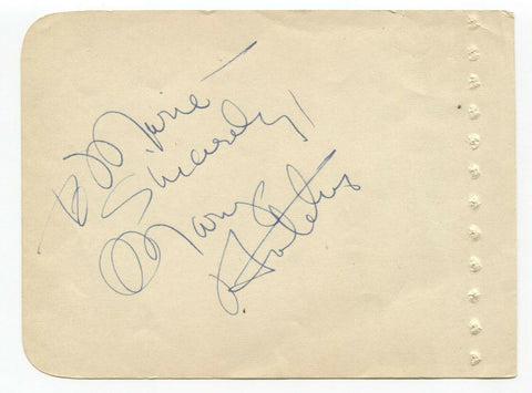 Mary Hatcher Signed Album Page Vintage Autographed Signature Actress Singer