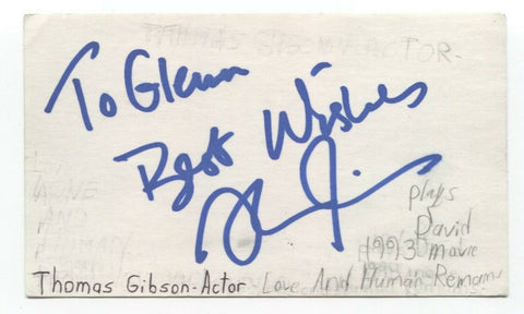 Thomas Gibson Signed 3x5 Index Card Autograph Signature Actor