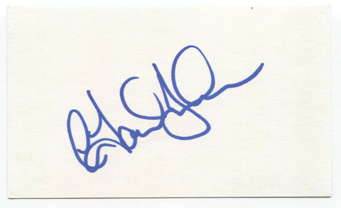 C. David Johnson Signed 3x5 Index Card Autographed Signature Actor