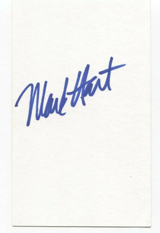 Supertramp Crowded House - Mark Hart Signed 3x5 Index Card Autographed Signature
