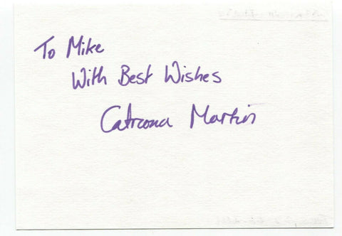 "Catriona Martin Signed Album Page Autographed Signature Inscribed ""To Mike"""