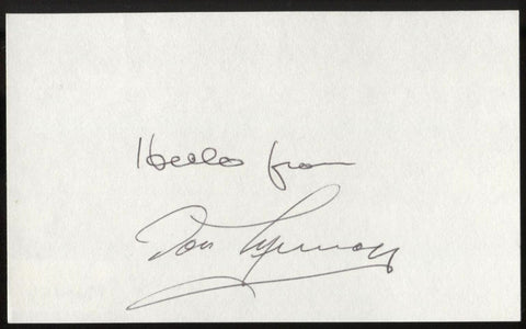 Don Murray Signed Index Card Signature Vintage Autographed AUTO