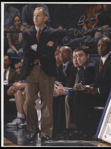 Jeff Reynolds Signed 8.5 x 11 Photo College NCAA Basketball Coach Autographed